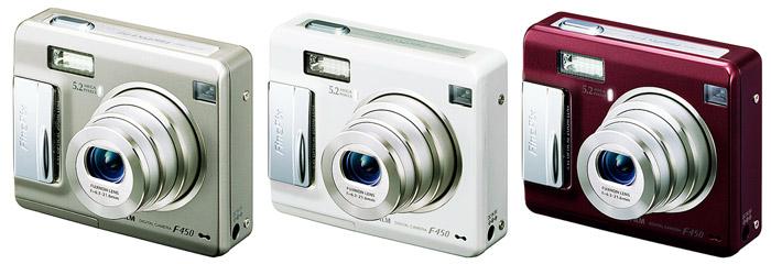 デジタルカメラ�uFinePix F450�v�uFinePix F450 ホワイト�v�uFinePix F450 ワインレッド�v
